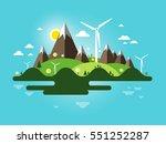flat design landscape. abstract ... | Shutterstock .eps vector #551252287