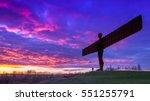 angel of the north  gateshead  ... | Shutterstock . vector #551255791