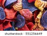 sweet potato candy striped beet ...   Shutterstock . vector #551256649