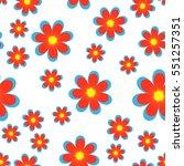 floral pattern | Shutterstock .eps vector #551257351