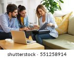 real estate agent offer home... | Shutterstock . vector #551258914