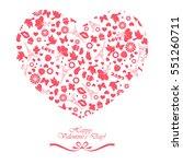 happy valentine's day. love... | Shutterstock .eps vector #551260711