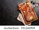 succulent grilled tomahawk beef ... | Shutterstock . vector #551260909