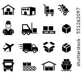 shipping and delivery icons | Shutterstock .eps vector #551262097