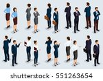 trend isometric people 3d... | Shutterstock .eps vector #551263654