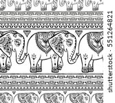 Pattern With Elephant And...