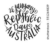 inscription happy australia day ... | Shutterstock .eps vector #551264839
