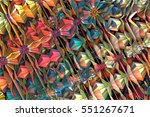 abstract fractal background 3d... | Shutterstock . vector #551267671