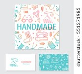 vector hand made banner and... | Shutterstock .eps vector #551271985