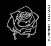 rose sketch. flower design... | Shutterstock .eps vector #551272015