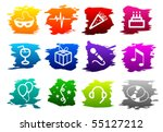 vector partytime icon set