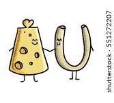 macaroni and cheese cartoon... | Shutterstock .eps vector #551272207