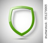 protection empty shield concept.... | Shutterstock .eps vector #551273005