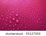 Water Drops Background With Big ...
