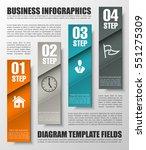 information infographic... | Shutterstock .eps vector #551275309