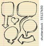 notebook doodle sketch speech...   Shutterstock .eps vector #55127650
