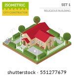 religious architecture. flat 3d ... | Shutterstock .eps vector #551277679