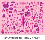 valentine s day icon set....
