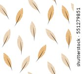 seamless pattern   feathers | Shutterstock .eps vector #551279851