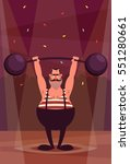 funny cartoon character. strong ... | Shutterstock .eps vector #551280661