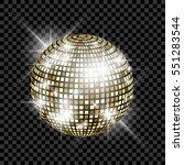 golden disco ball. vector... | Shutterstock .eps vector #551283544