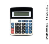 modern calculator isolated on... | Shutterstock . vector #551286217