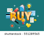 set of the vector business... | Shutterstock .eps vector #551289565
