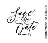 save the date postcard. ink... | Shutterstock .eps vector #551289841