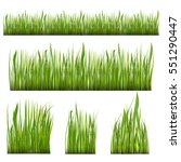 green grass borders set season... | Shutterstock .eps vector #551290447