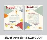 brochure design layout with...   Shutterstock .eps vector #551293009