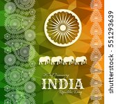 26th of january india republic... | Shutterstock .eps vector #551293639