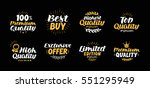 vector set  labels  badges and... | Shutterstock .eps vector #551295949