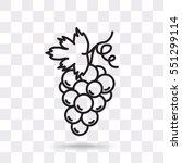 Line Icon  Grapes