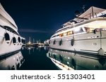 luxury yachts in la spezia... | Shutterstock . vector #551303401