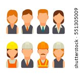 set icon male and female faces... | Shutterstock .eps vector #551305009