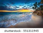 Sunrise Over The Beach. Punta...