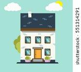 house. home icon logo. flat... | Shutterstock .eps vector #551314291