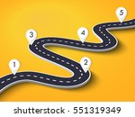winding road on a colorful... | Shutterstock .eps vector #551319349