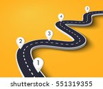 winding road on a colorful... | Shutterstock .eps vector #551319355