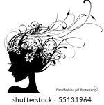 fashion girl | Shutterstock .eps vector #55131964
