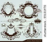 floral design elements | Shutterstock .eps vector #55131970