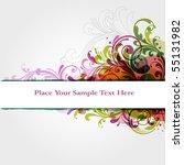 floral frame | Shutterstock .eps vector #55131982