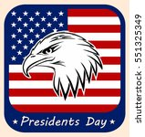 presidents day icon.the head of ... | Shutterstock .eps vector #551325349