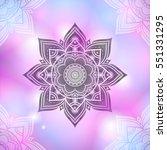hand drawn abstract mandala... | Shutterstock . vector #551331295