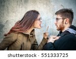 couple having a fight on the... | Shutterstock . vector #551333725