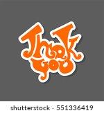 thank you card | Shutterstock .eps vector #551336419