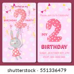 birthday invitation card with... | Shutterstock .eps vector #551336479
