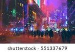 people walking in the sci fi...   Shutterstock . vector #551337679