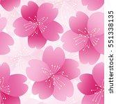 sakura flower seamless pattern... | Shutterstock .eps vector #551338135