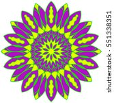 vector mandala. decor for your... | Shutterstock .eps vector #551338351